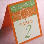 An 'Arabian Nights' Themed Wedding Table Plan