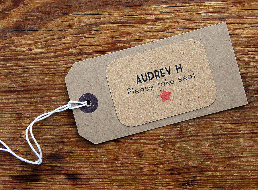 Red carpet place tag - notonthehighstreet.com