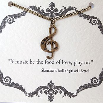 Shakespeare music necklace - notonthehighstreet.com