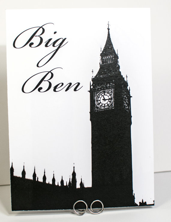 Big Ben Wedding Table Name - etsy.com