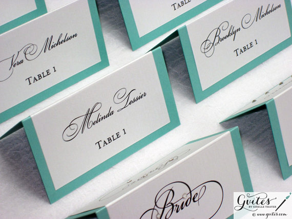 Tiffany blue escort cards