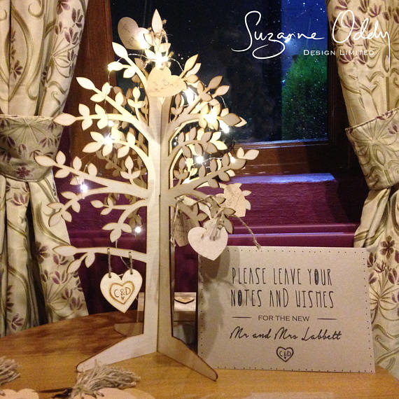 Rustic wedding wishing tree
