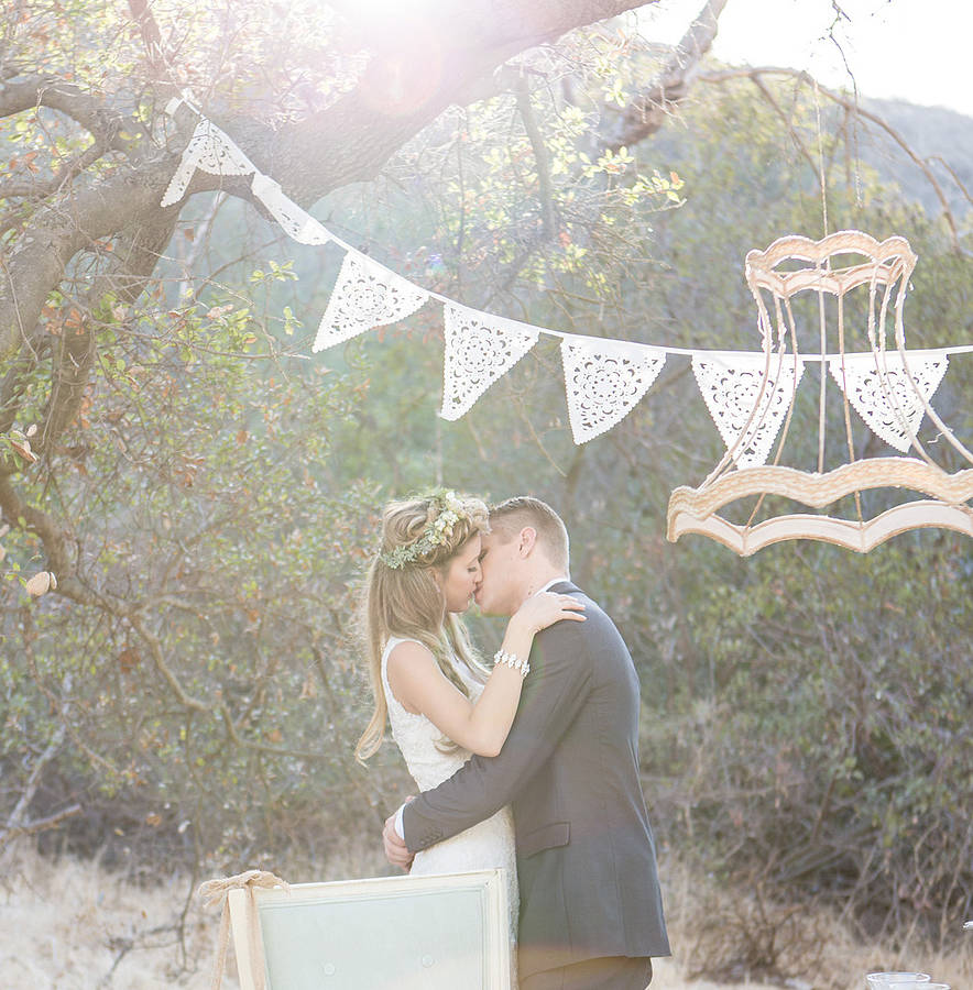 Lace wedding bunting - notonthehighstreet.com
