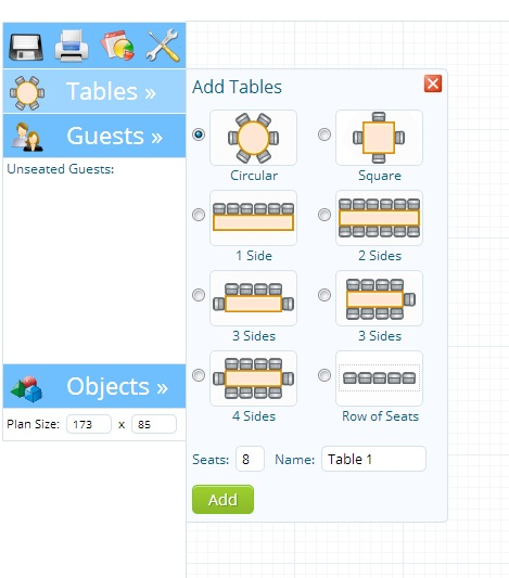 New TopTablePlanner Design