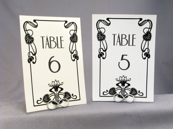 Vintage Hollywood table numbers