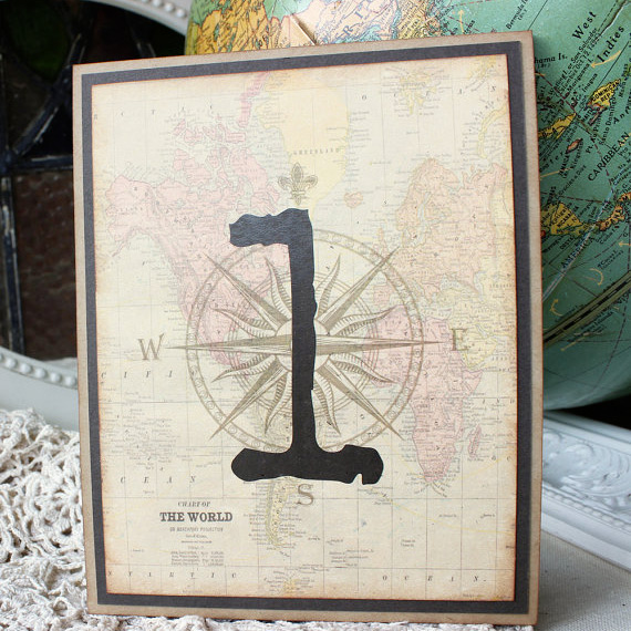 World map table numbers