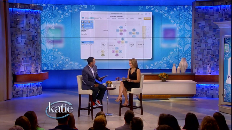 TopTablePlanner on the Katie show