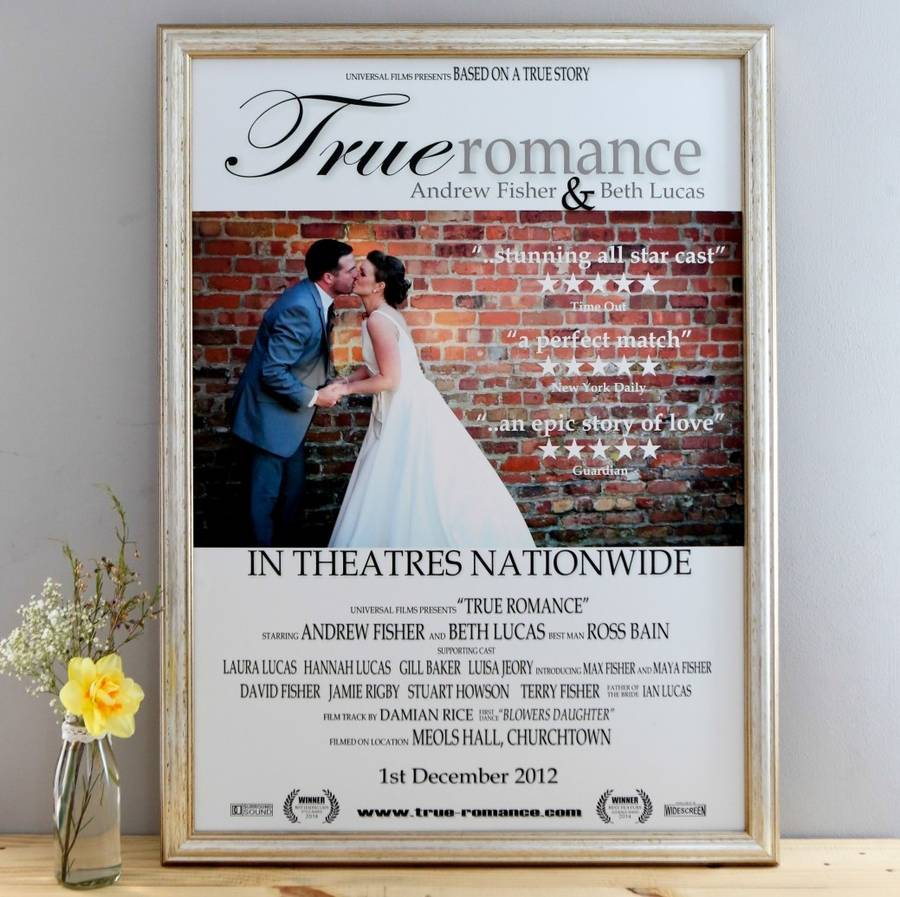 Wedding movie print - notonthehighstreet.com