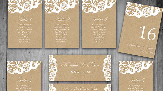 Lace seating chart template