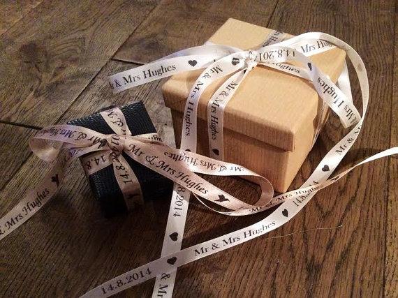 Personalised Wedding Favour Ribbon