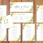 Yellow Wedding Seating Plans