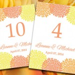 Orange Wedding Seating Plans