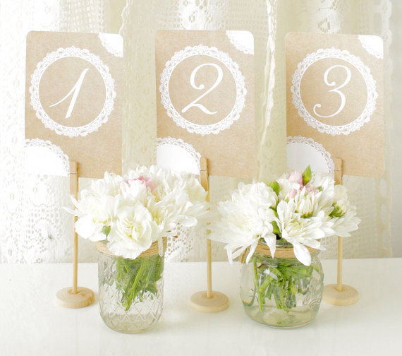 Doily table numbers