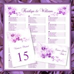 Radiant orchid printable seating plan - etsy.com