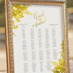 Gold Themed Wedding Seating Plans