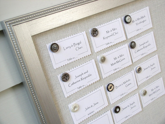 Metallic silver seating chart
