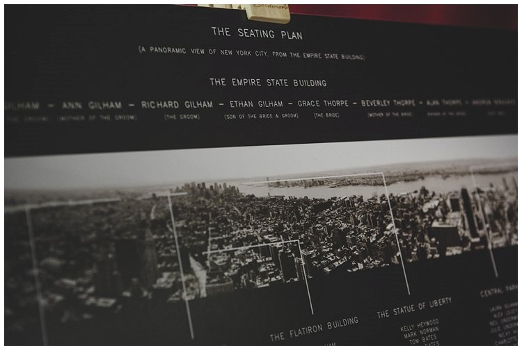 New York skyline seating plan