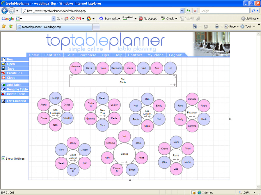 Wedding Reception Seating Chart Etiquette – Wedding Guest Seating Chart Template