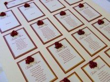 Bronte Handmade Wedding Table Plan