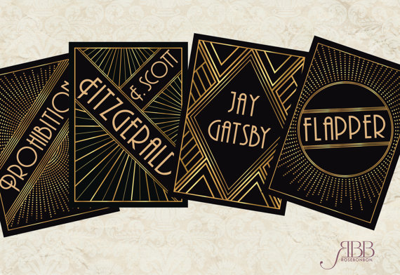 1920s Art Deco themed table names