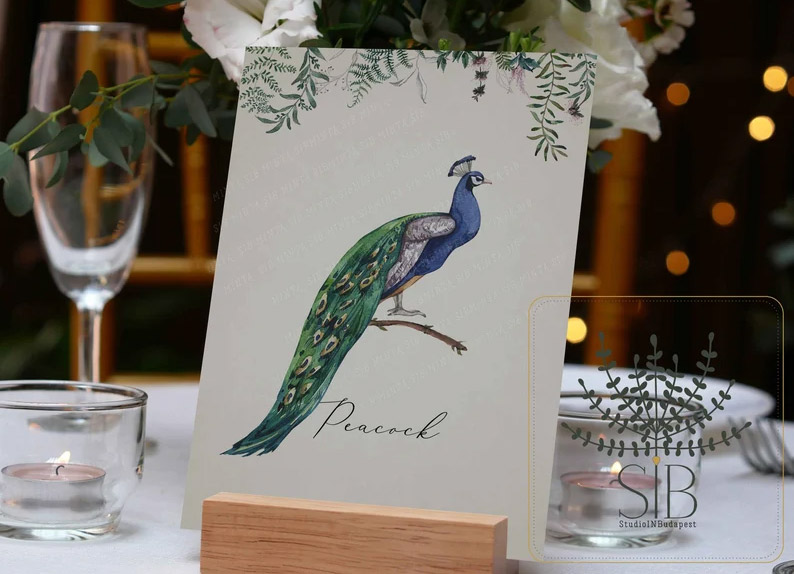 Tables named after your favourite birds - etsy.com
