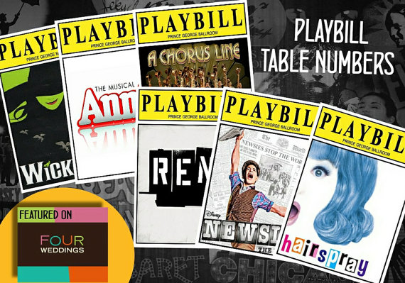 Broadway musical themed table names