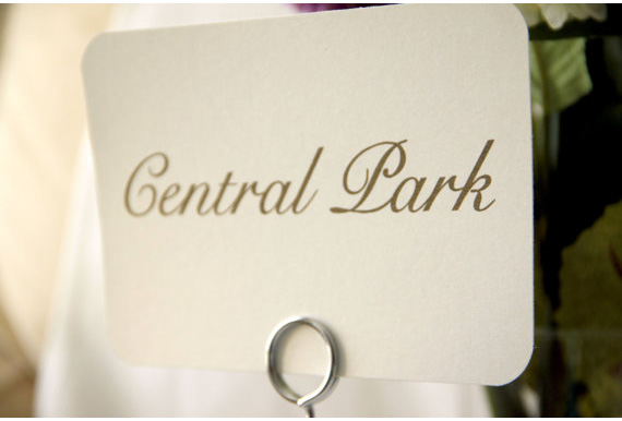 Central Park table name