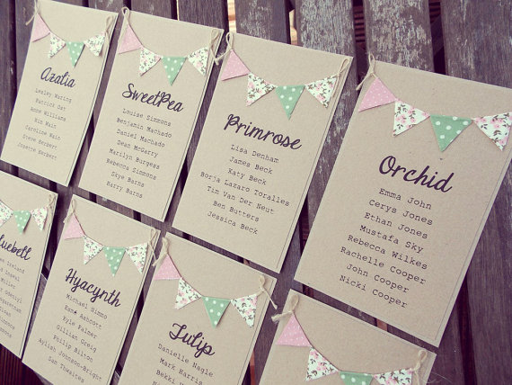 Flower table names